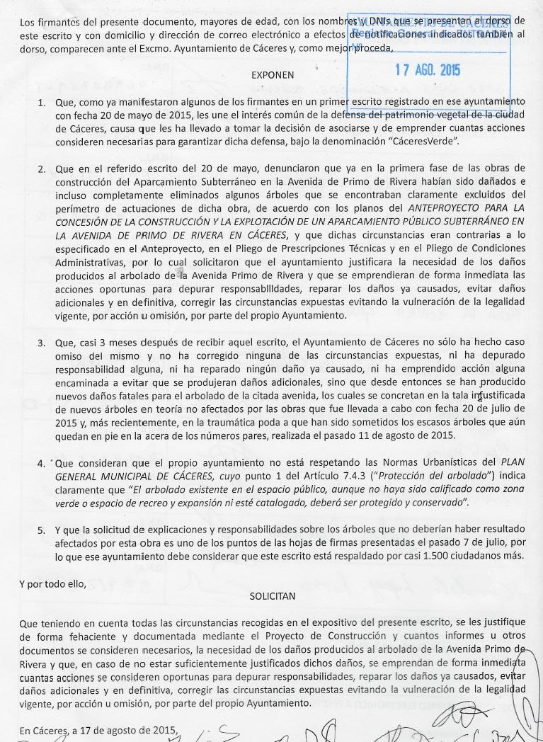 caceresverde-escrito-poda-salvaje-primo-de-rivera-sellado